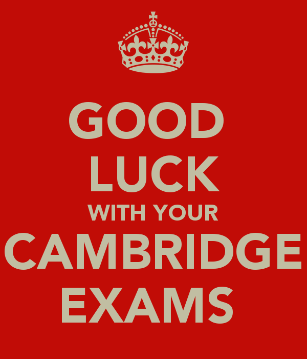 Good Luck With Your Cambridge Exams Image