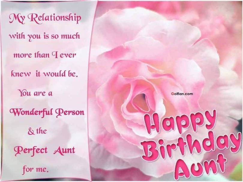 Great Aunt Birthday Greetings Picture