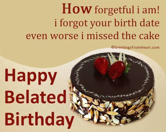 Happy Belated Birthday Quotes Image