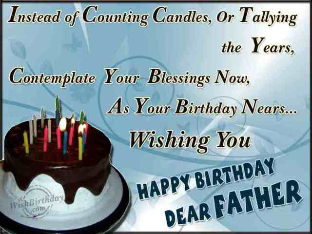 Happy Birthday Dear Father Greeting Image
