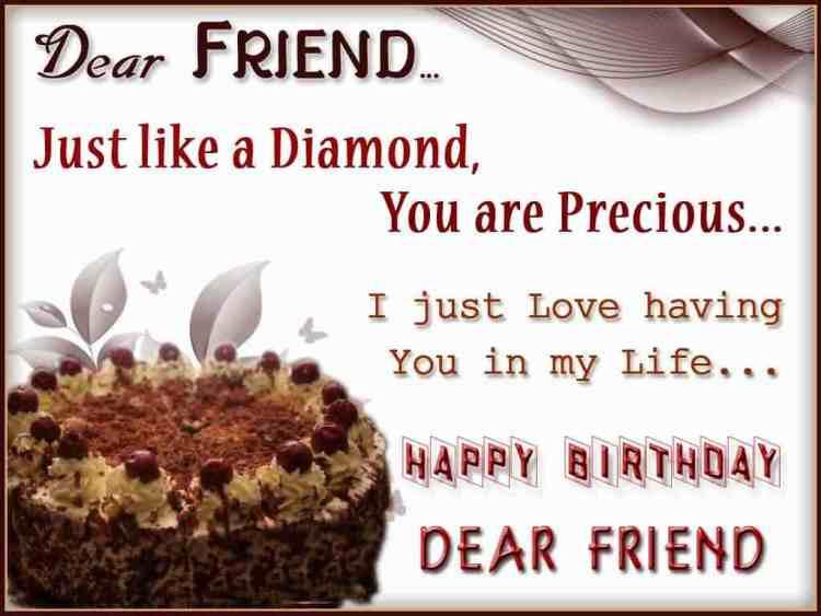 Happy Birthday Dear Friend Best Wishes Image