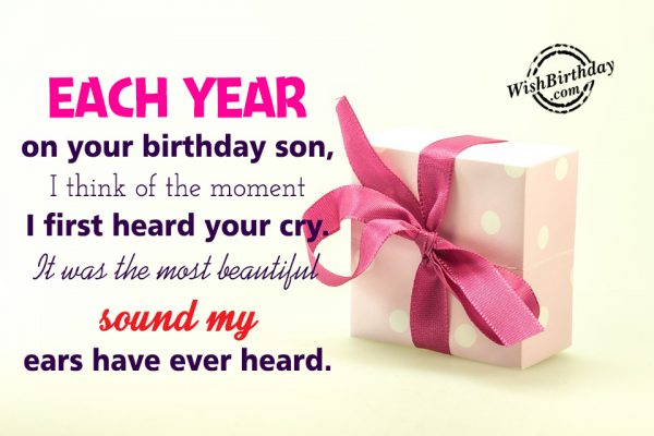 Happy Birthday Message From Father To Lovely Son
