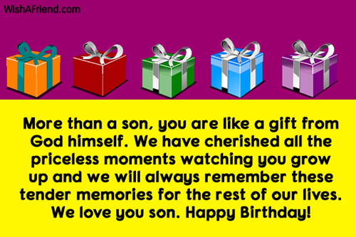 Happy Birthday More Than A Son You Are Like A Gift From God We Love You Son Image