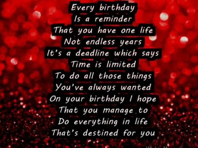 Happy Birthday Quotes For Someone Special
