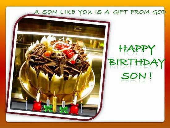 Happy Birthday Son A Son Like You Is A Gift From God Picture