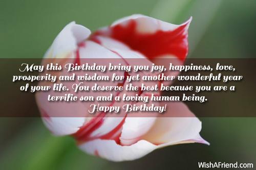 Happy Birthday Son May This Birthday Bring You Joy Happiness