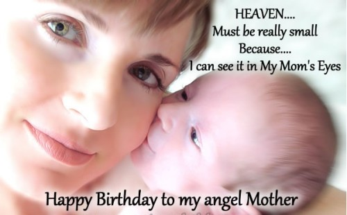 Happy Birthday To My Angle Mother