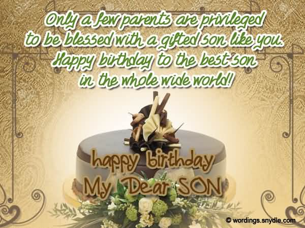 Happy Birthday To The Best Son In The Whole Wide World
