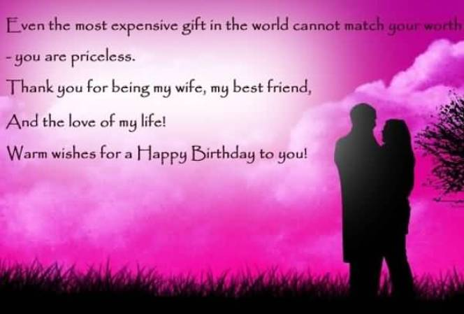 Happy Birthday Warm Wishes For Wife