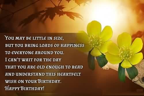 Happy Birthday Wish For Baby Boy
