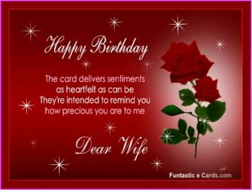 Happy Birthday Wishes For Precious Wife
