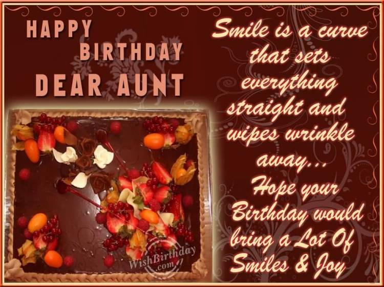 Happy Birthday Wishes To My Wonderful Aunt