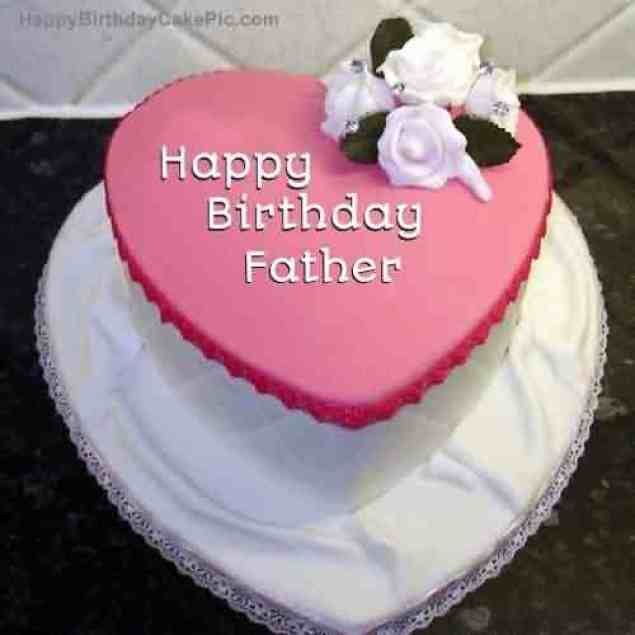 Heart Design Birthday Cake For Father Celebrate The Party