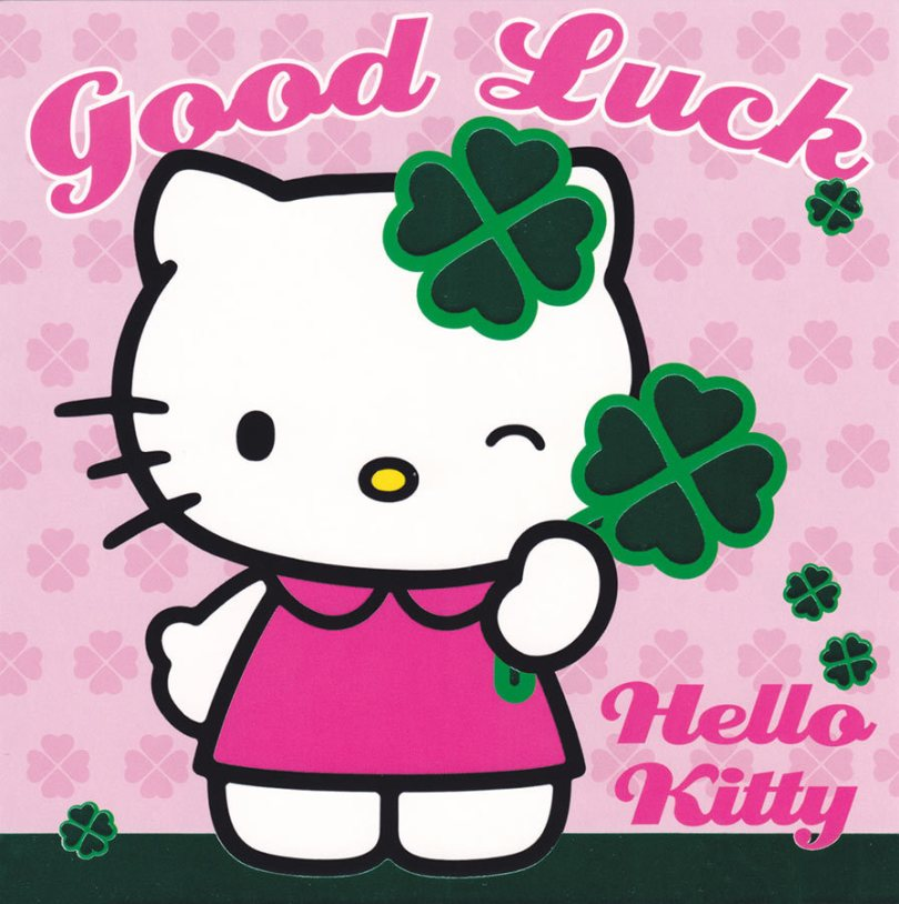Hello Kitty Good Luck Wishes Image