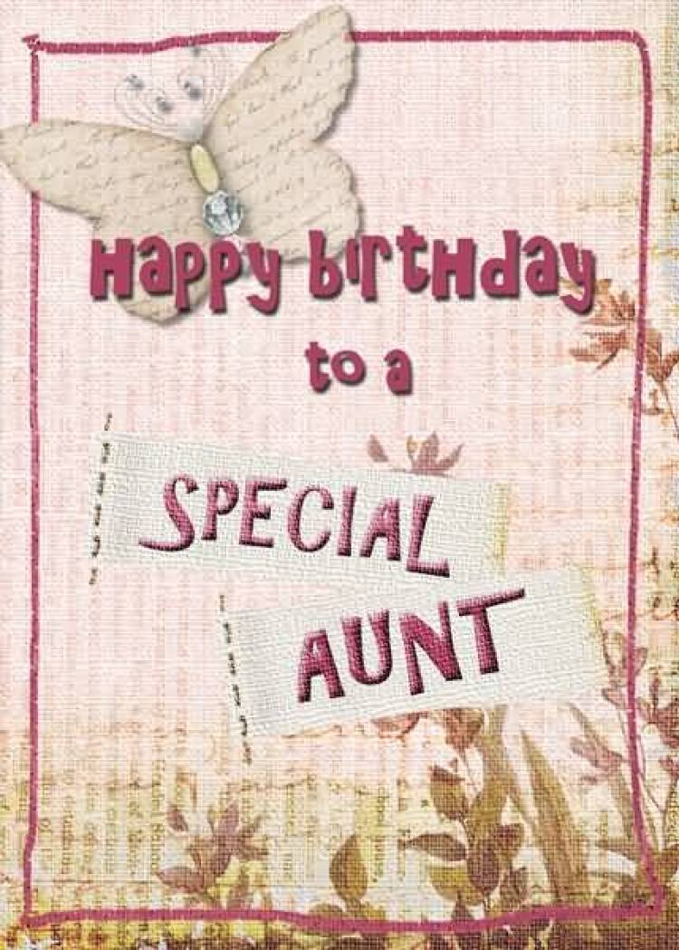 Homemade Birthday Wishes Card For Angel Aunt