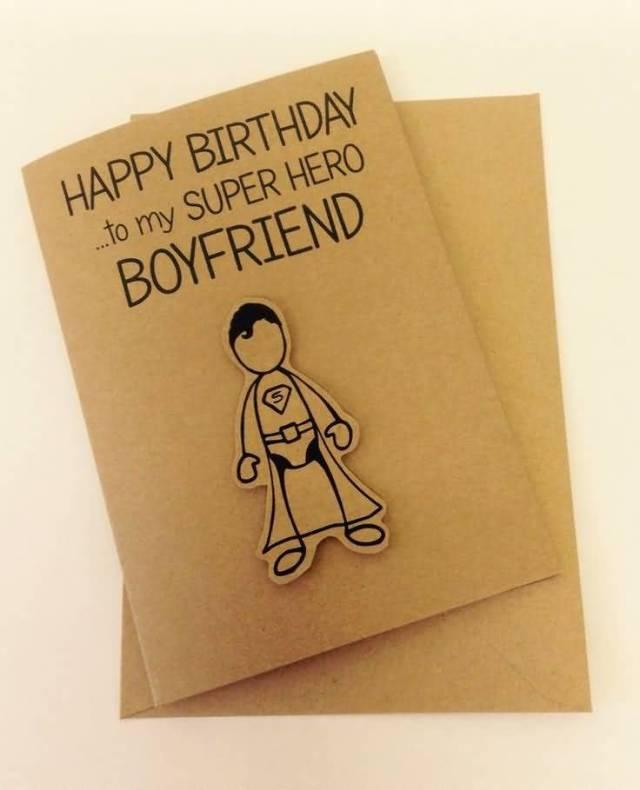 Homemade Greeting Card For Handsome Boyfriend