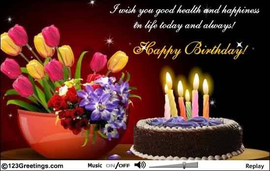 I Wish You Good Health And Happiness Happy Birthday Colleague