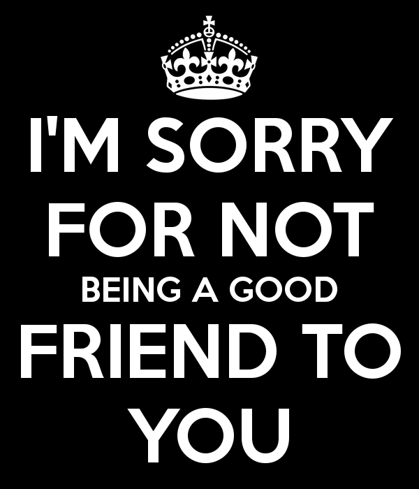 I'm Sorry Message To My Friend