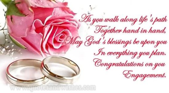 In Everything You Plan Congratulation On You Engagement