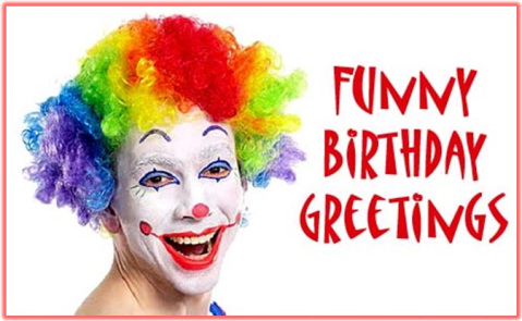 Joker Funny Happy Birthday Wishes Greeting