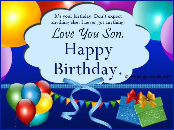 Love You Son Happy Birthday Greeting Image