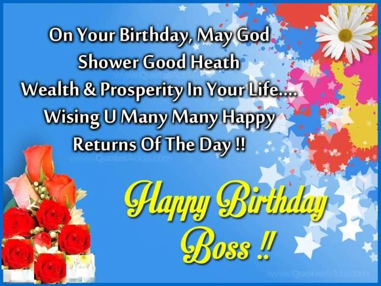 Many Many Happy Returns Of The Day Happy Birthday Lady Boss