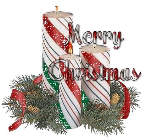 Merry Christmas Candle Gif