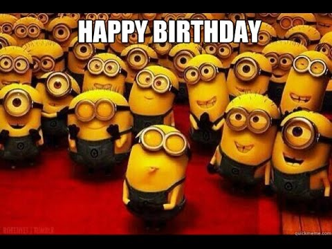Minion Happy Birthday Celebration Image