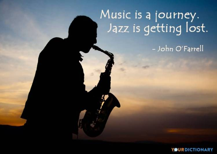 Music is a journey. Jazz is getting John O'Farrell