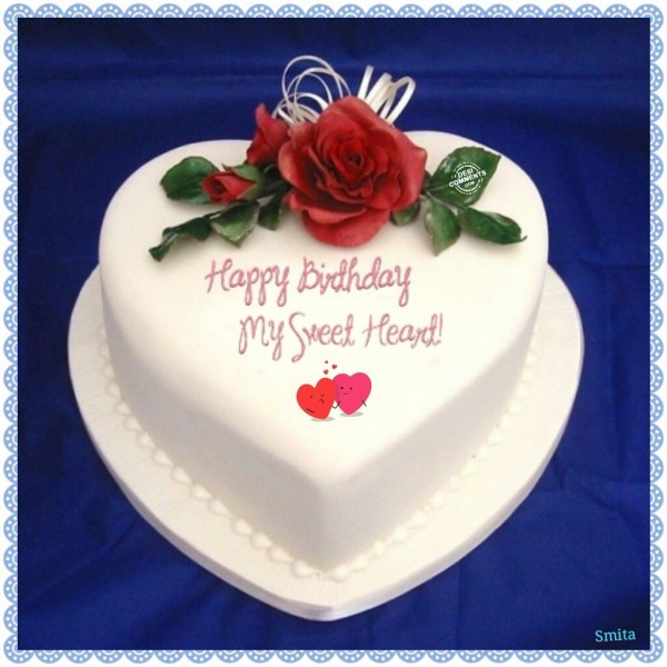 My Sweet Heart Birthday Cake Image