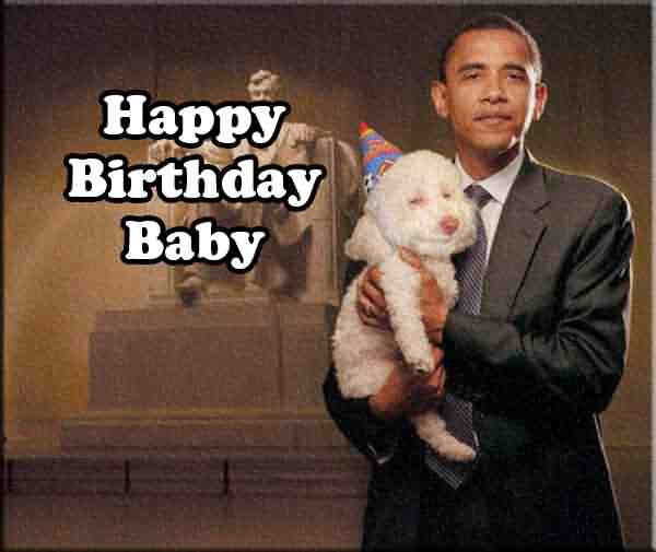 Obama Funny Baby Birthday Wishes