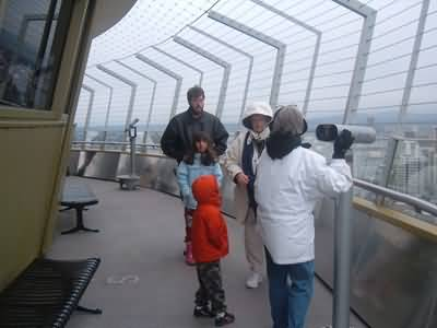 One Faimly In Space Needle Inside Photo