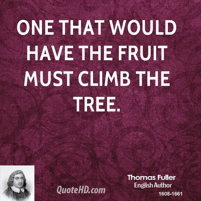 One that would have the fruit must climb the Thomas Fuller