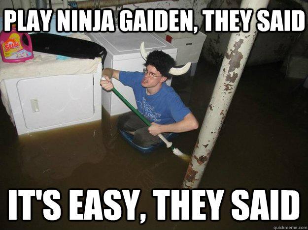 Play Ninja Gaiden They Said Its Easy Funny Ninja Memes