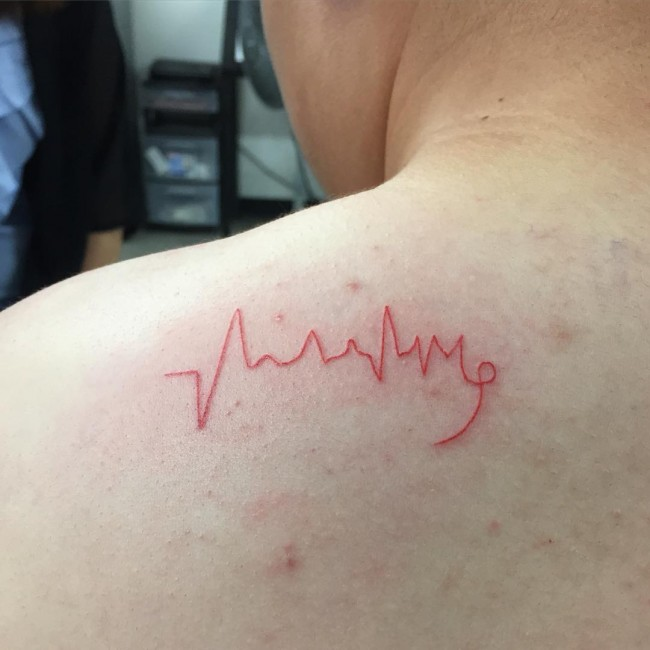 12 ekg tattoo ideas mind blowing 70 fantastic ekg for Tattoo shops roanoke va