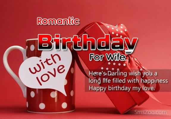 Romantic Birthday Line For Beautiful Wife
