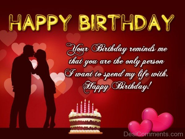 Romantic Happy Birthday Greeting Quotes Picture