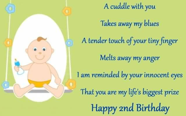Second Birthday Wishes For Baby Boy
