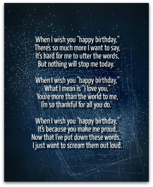 Someone Special Birthday Long Message