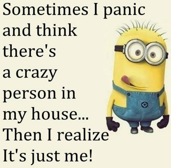 Sometimes I Panic And Think There's A Crazy Person In My House