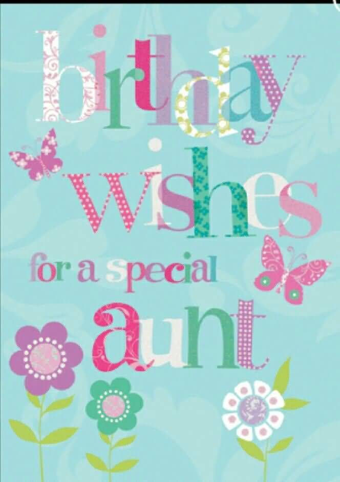 Special Aunt Birthday Greeting E Card