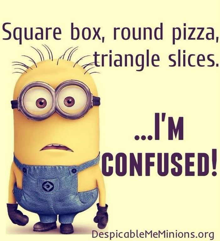Square Box, Round Pizza Triangle Slices