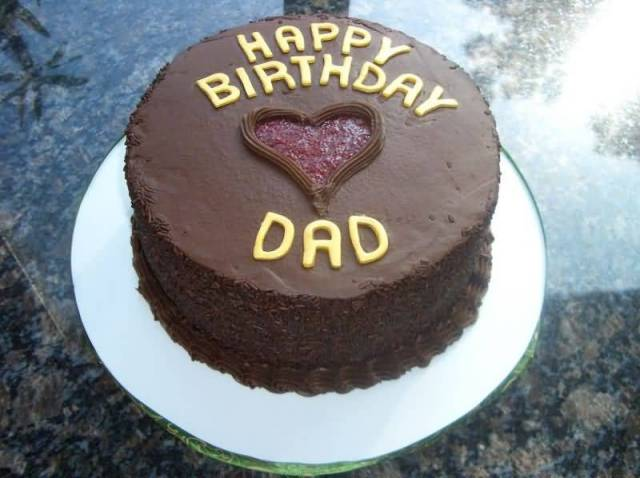 Sweet Dad Happy Birthday Cake