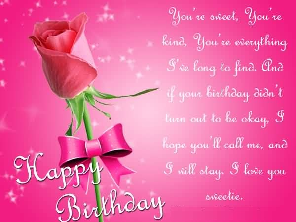 Sweet Message Birthday Wishes For Someone Special