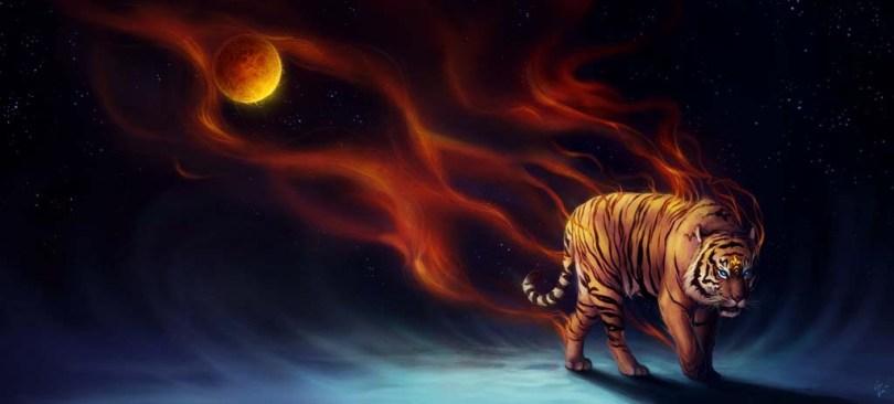 Tiger Fabulous Design in full HD Wallpaper