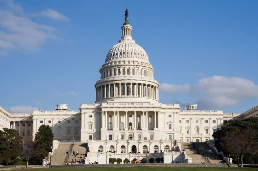 Very Beautiful Front View Of United States Capitol Photo