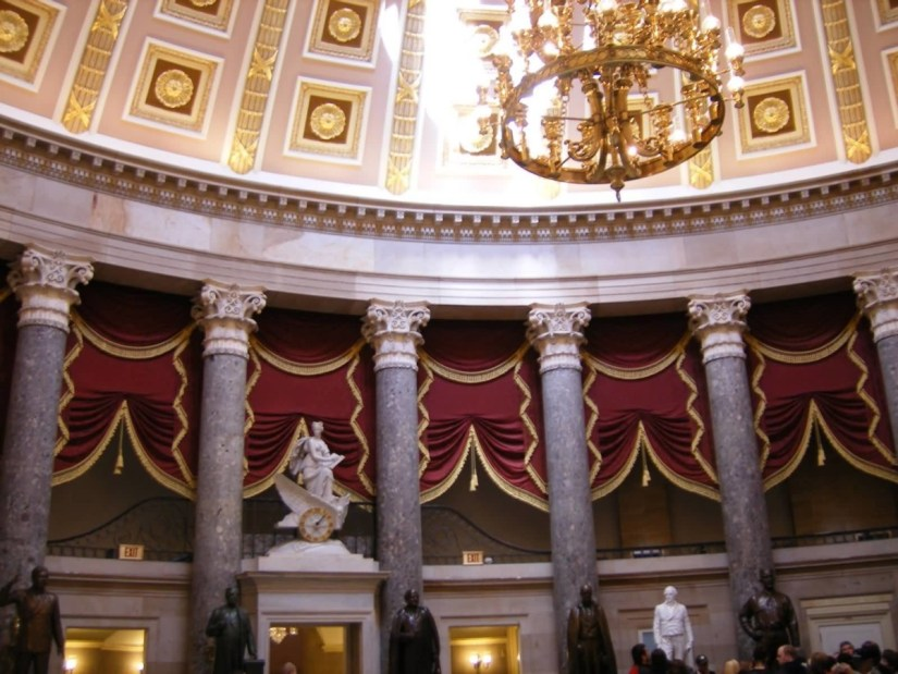 Very Impressive Columns And Statues In United States Capitol Photo