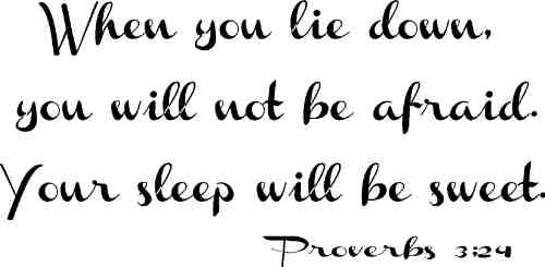 When you lie down you will not be afraid when you lie down your sleep will be sweet.
