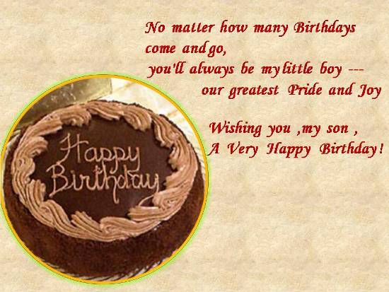 34 Most Famous Son Birthday Wishes For Parents And Relatives – Happy Birthday Card Son