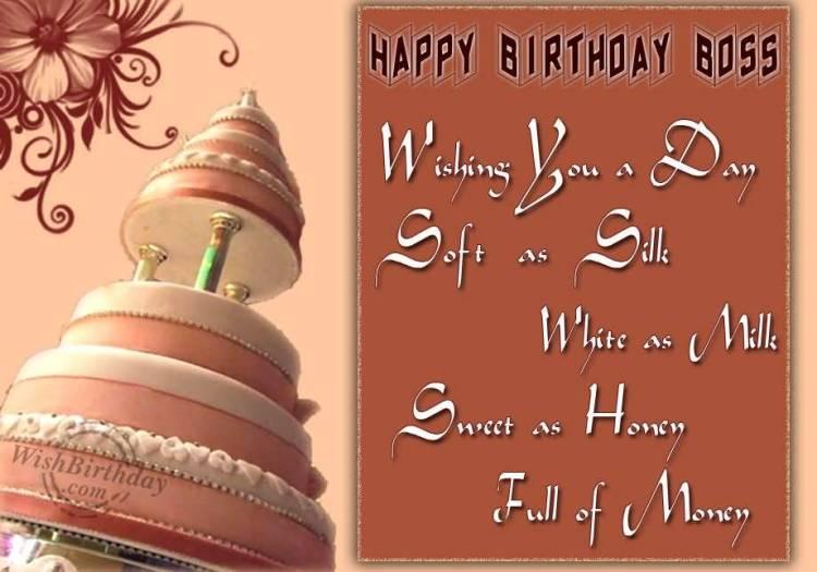 Wishing You Wonderful Day Happy Birthday Boss